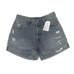 Levi's Shorts NWT Denim 501 Distressed (BB43)